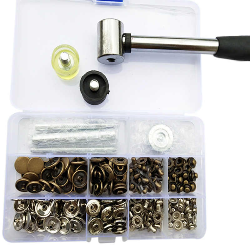 831 Snap Buttons +Tool Metal Press Studs Sewing Button Snap Fasteners Sewing Craft Clothes Bags