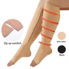MISS M, женские сжигающие жир носки на молнии, функциональные компрессионные тонкие носки для сна, Корректирующее белье для ног, носки для предотвращения варикозного расширения вен