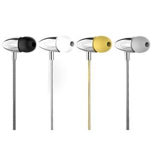 Image 1 - Auriculares portátiles Metal con cable en la oreja estilo móvil auriculares estéreo Hd sonidos dispositivos de alrededor con micrófono llamadas manos libres