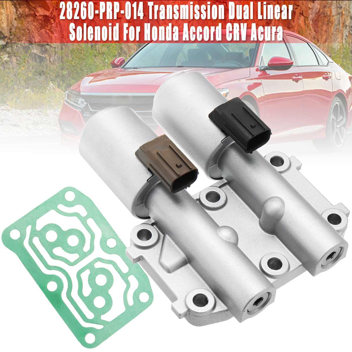 Transmission Dual Linear Solenoid Fit 28260-PRP-014 For Honda Accord/CRV/Acura Auto Replacement Automatic Transmission & Parts