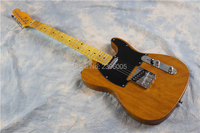 Human guitar company ,Tele guitar wholesale. mahogany body ,transparent yellow gloss finish .tele 52