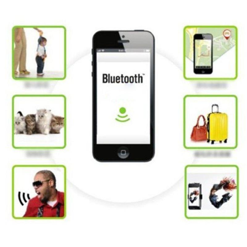 Bluetooth Tracer Pet Dog Child Kid Gps Locator Tag Alarm Wallet Key Outdoor Tool (lithium Coin Battery Not Included)