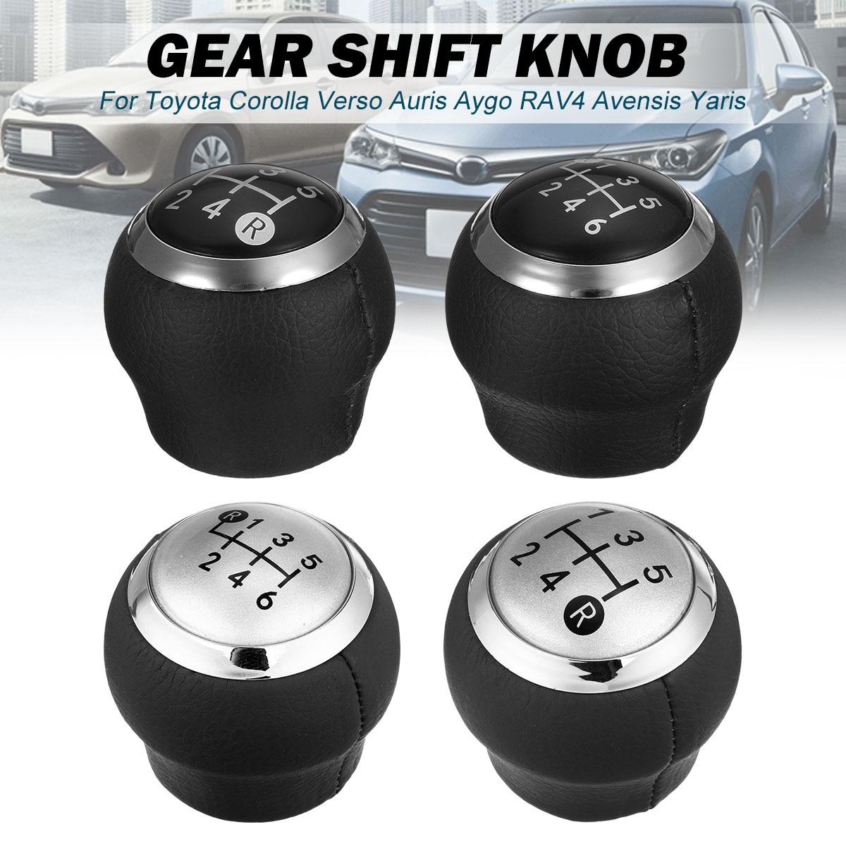 6Speed Gear Stick Shift Lever Knob Part For Toyota Corolla Verso Rav4 Yaris Aygo