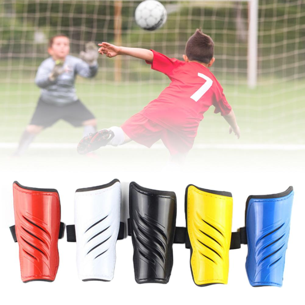 Twill Shin Guards Protective Pads Reinforced Color Double Straps Football For Children