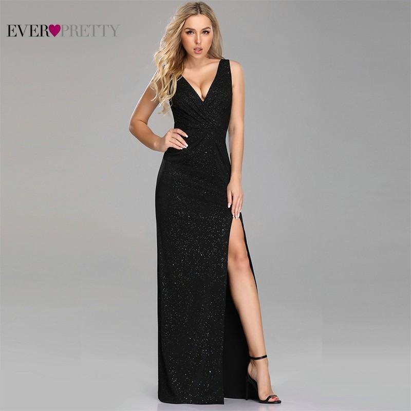 Elegant Bridesmaid Dresses Ever Pretty A-Line Deep V-Neck Sleeveless Long Women Dresses For Wedding Party Vestido Madrinha 2019