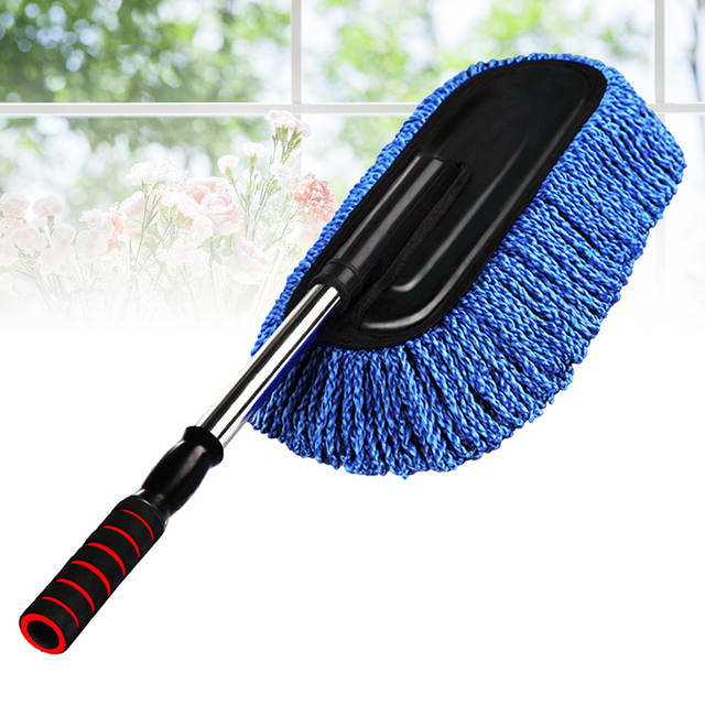 Car Cleaning Supplies >> Us 13 7 29 Off Super Soft Car Cleaning Supplies Duster Interior Cleaner With Long Retractable Handle To Trap Pollen For Car Bike Rv Boats In