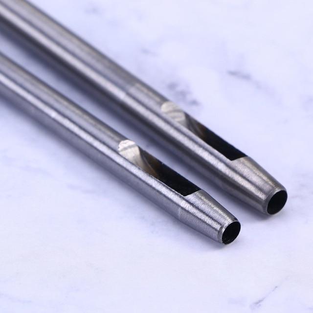 10 Teile/satz High-carbon Stahl Puncher Hohl Punch Loch Set Handwerk Schneider Hand Handwerk DIY Werkzeuge Gürtel Leder Handwerk