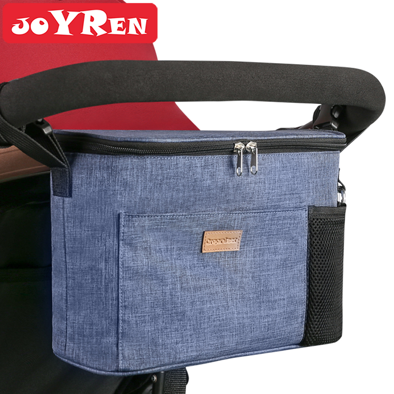 Bag For Stroller With Shoulder Strap Large Storage Space Waterproof Universal Stroller Organizer