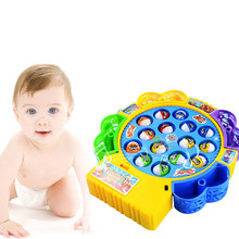 Fishing Game Toy Set Music Rotating Board 4 Fishing Poles Game for Children YJS Dropship connect 4 classic grid board game toy