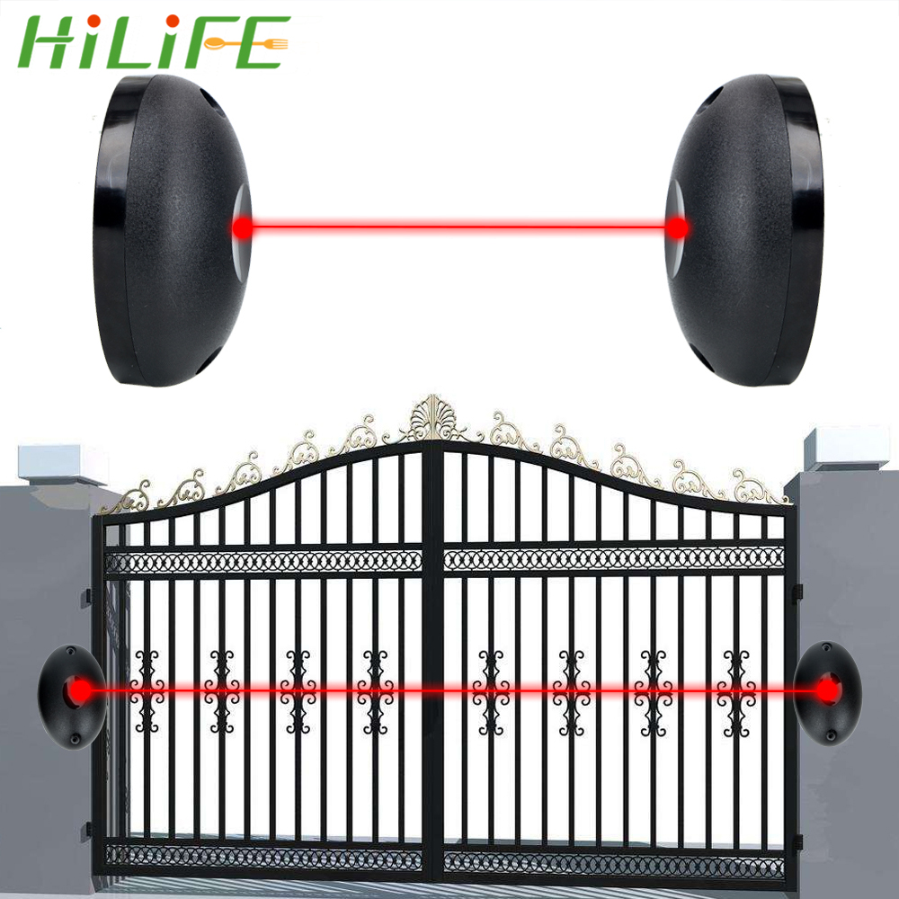 Single Beam Infrared Radiation Sensor Barrier For Gates Doors Windows External Positioning Alarm Detector Against Hacking System