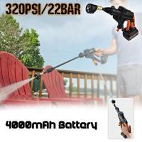 20 в 320PSI 4000mA Беспроводная Автомойка высокого давления автоматическая стиральная машина портативный Электрический чистый пистолет устройст...