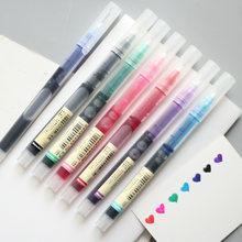 Прямая жидкая гелевая ручка 7 цветов простой стиль художественный