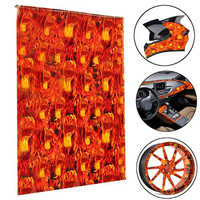 1PC 0.5*1m Fire Fist Hydrographic Water Transfer Film Hydro Dipping Print Carbon