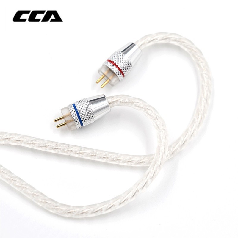 CCA Silver Plated Upgrade Cable 3.5 Mm Audio Cable 4 Core 2 Pin Original Earphone Cable Diy For Cca C10/c16/c04/ KZ ZS3 ZS6 ZSA