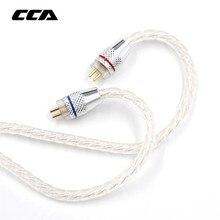 CCA с серебряным покрытием обновления кабель 3,5 мм аудио кабель 4 Core 2 Pin оригинальный кабель наушников Diy для Cca C10/c16/c04/KZ ZS3 ZS6 ZSA