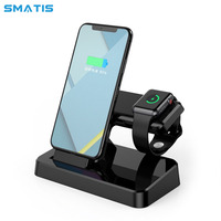 Wireless Charger Dock Station for Apple Watch iPhone 2 in 1 USB Charging Holder for XS Max XR X 8 7 6 Plus Bracket Cradle Stand