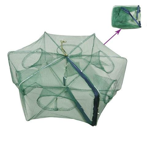 6 16 buraco dobrado rede de pesca de camarao gaiola de malha de nylon rede