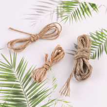 diy Jewelry accessories twine fine hemp rope hand-woven tag decorative rope retro thick rope bundle(China)