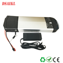 Free shipping 36V 250W Rear rack electric bicycle battery 12ah 12.5ah 10S5P cells with 42V 2A charger
