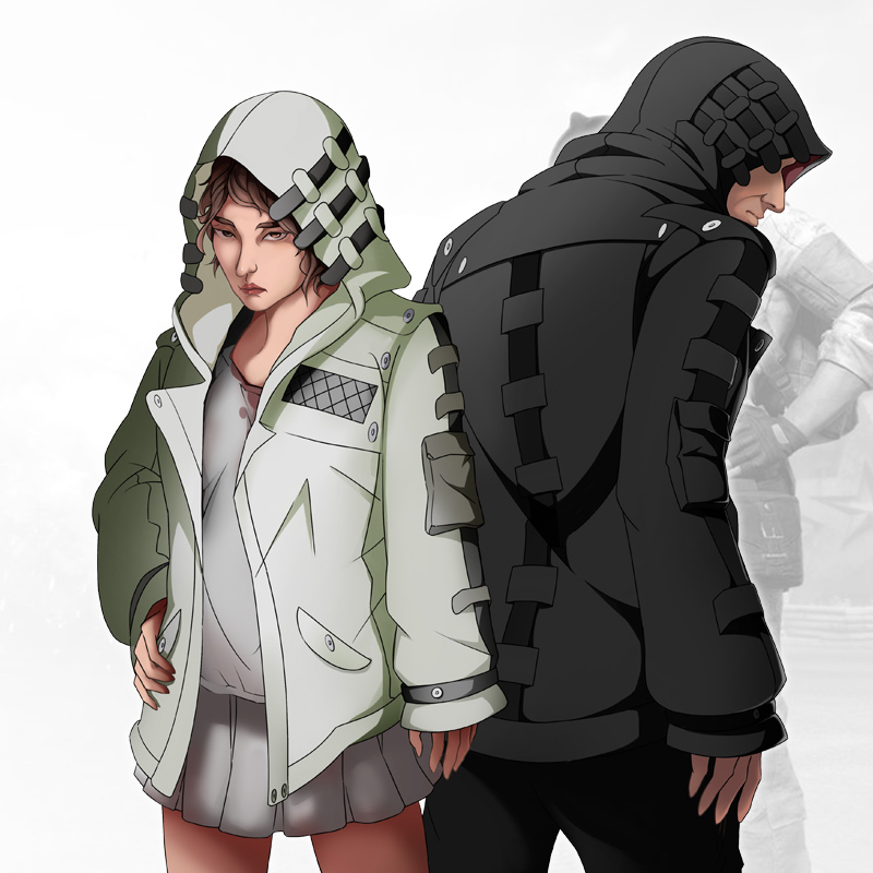 Milky Way Anime Players Battlegrounds Game pubg GAME Coat Thin Thick Cosplay Coat Unisex White Black Game Jacket