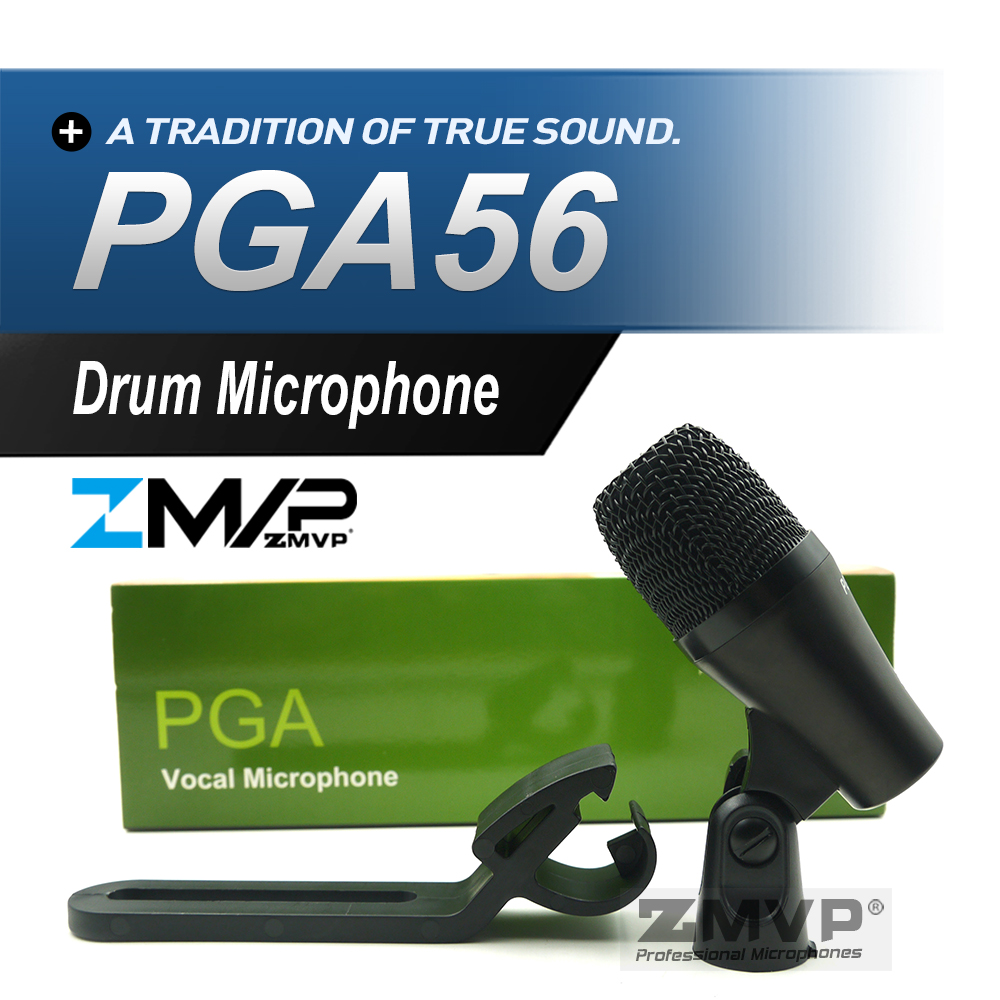 Professional PGA56 Super Cardioid Dynamic PGA 56 Instrument Percussion Microphone Mike Mic For Bass Amp Kick Toms Snare Drums