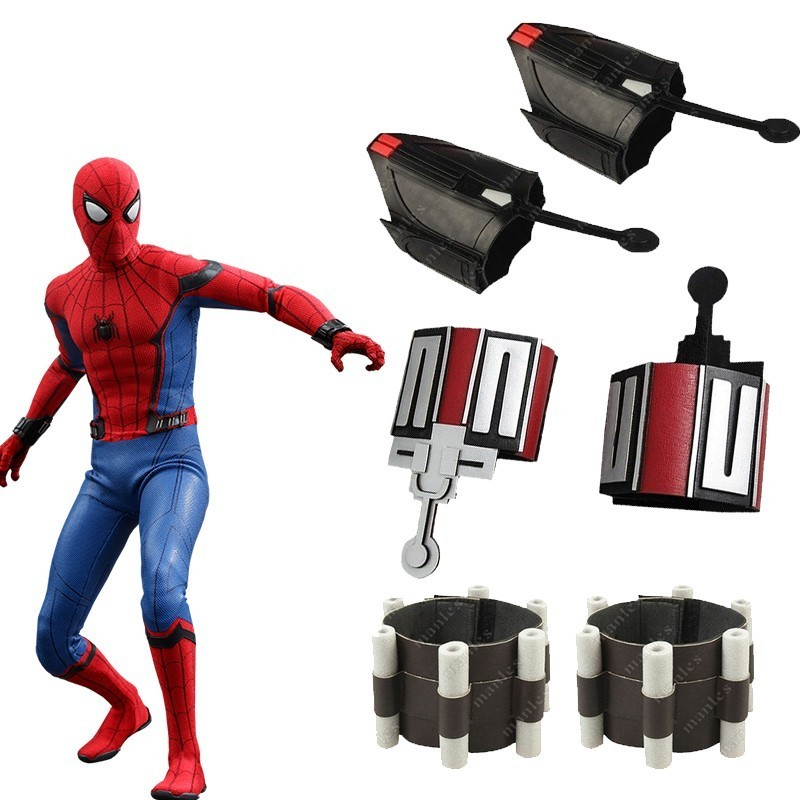 Spider-Man Homecoming Web Shooter Spider Man Cosplay Costume Accessories Halloween Props Spiderman Carnival Adult Men Leather