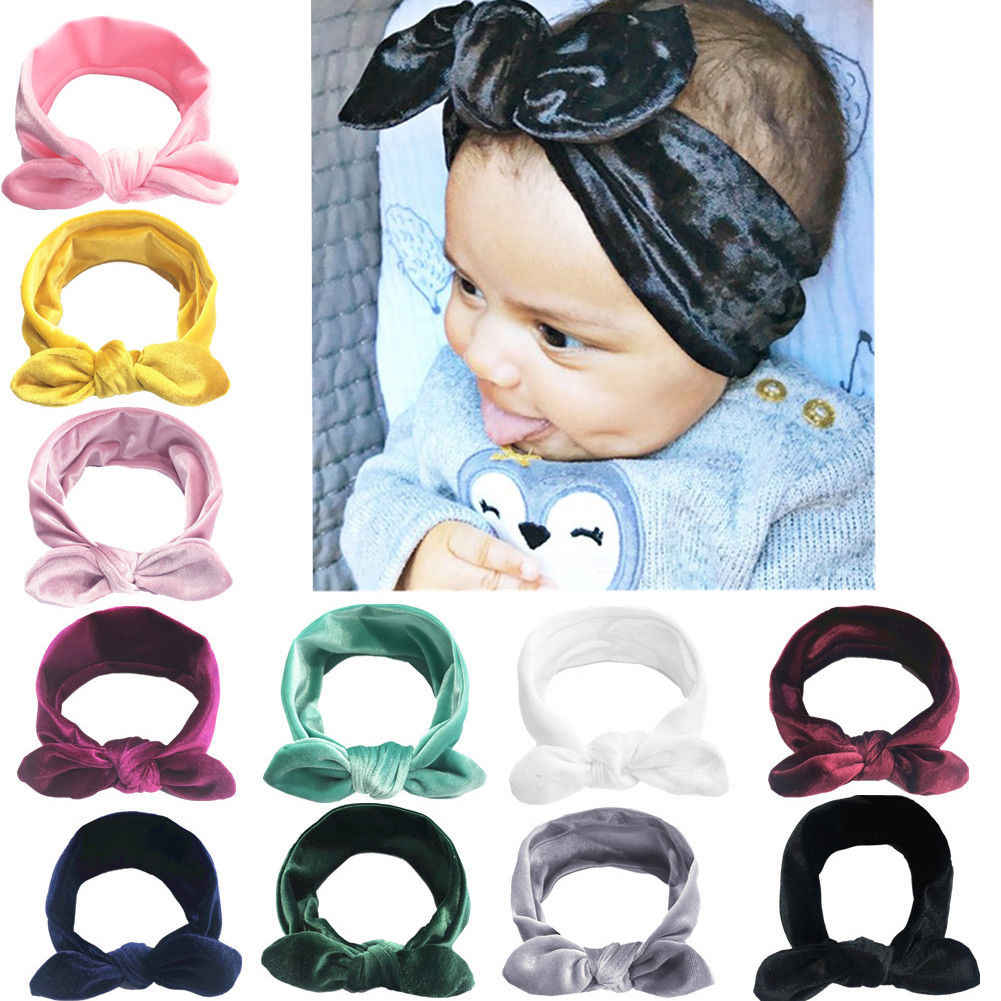 Thefound 2019 New 11Pcs Toddler Baby Girls Velvet Ribbon Hair Bows Headbands Big Bow Hair Bands