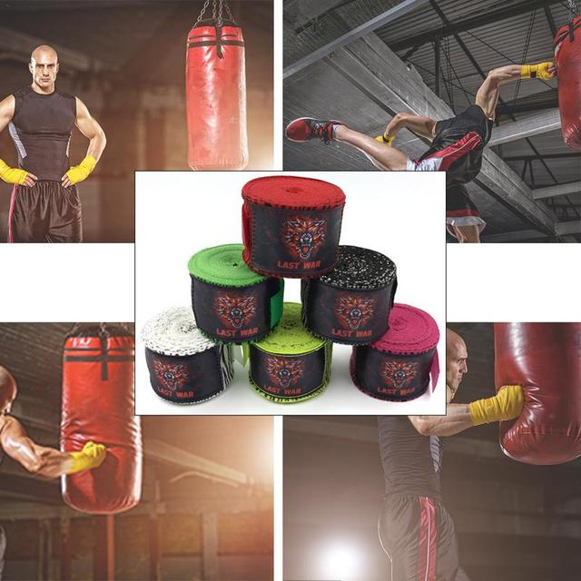 Спортивные обертывания боксерский бандаж Муай тайская борьба Санда унисекс боксерские ремни Длина 5 м рук перчатки обертывания
