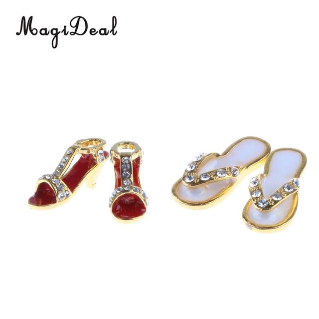 MagiDeal 1:12 Dollhouse Miniature Metal Slippers Shoes for 1/12 Scale Dolls House Living Room Bedroom Decoration Accessories