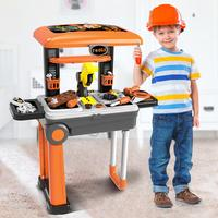 27 PCS Kids Pretend Play Workbench House Plastic Drill Tool Kit Toys Play House Garden Toy Repair Tools Set For Boys Children