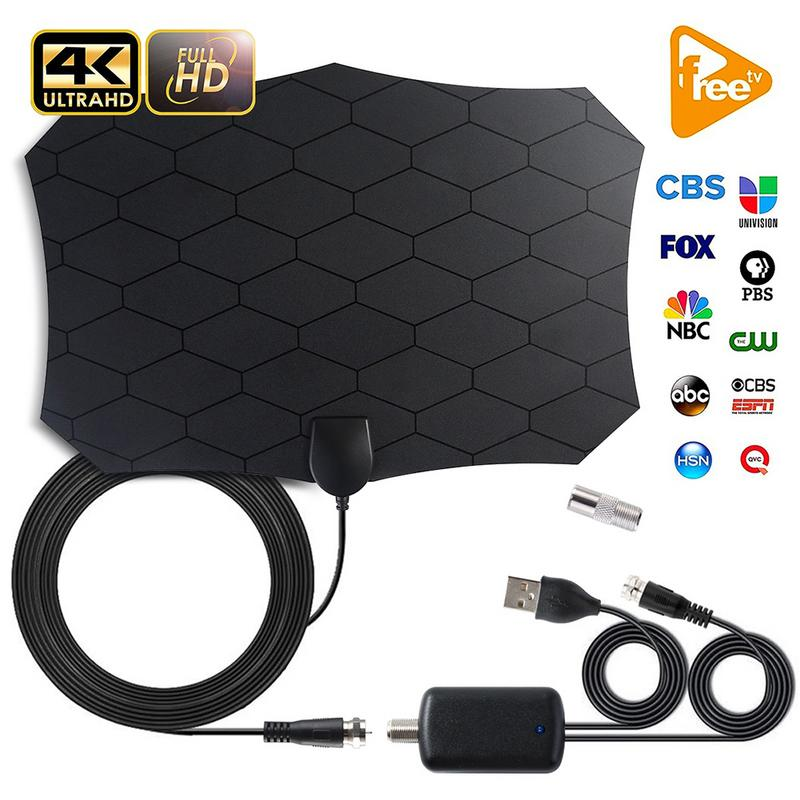 240 Miles 1080P Digital HDTV Indoor TV Antenna With Amplifier Signal Booster Radius Surf HD Mini Antennas Aerial