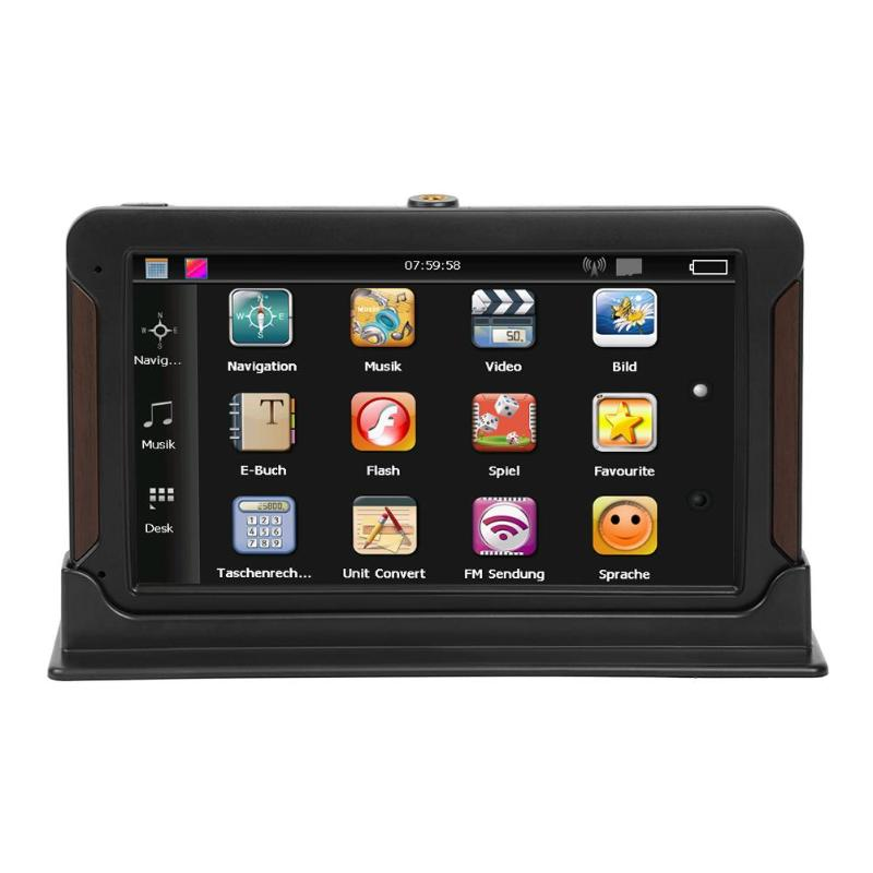 7 Capacitive Touch Screen Q8 Center Console Car 3D GPS Navigator FM Transmitter Audio Video Player