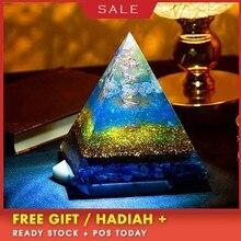 AURA Orgonit Şeffaf Piramit Değiştirmek Manyetik Alan Hayat Reiki Taş Aura Kristal Reçine Dekoratif El Sanatları Takı