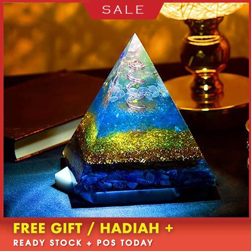 US $161 76 21% OFF|AURA Orgonite Transparent Pyramid Change The Magnetic  Field Of Life Reiki Stone Aura Crystal Resin Decorative Craft Jewelry on