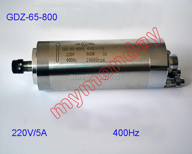 Air Pendingin Spindle GDZ-65-800A 0.8Kw CNC 800W Motor Spindle Dia.65mm ER11 220V 5A