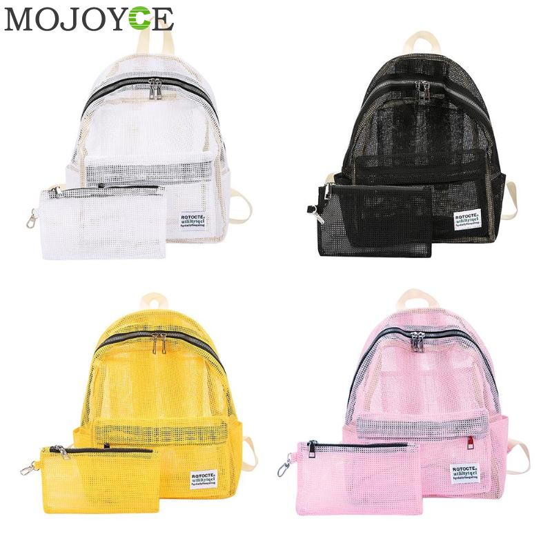 Fashion mochila Women Transparent Backpack Mesh Backpack For School Boys And Girls Lightweight Backpack Travel Shoulder BagFashion mochila Women Transparent Backpack Mesh Backpack For School Boys And Girls Lightweight Backpack Travel Shoulder Bag