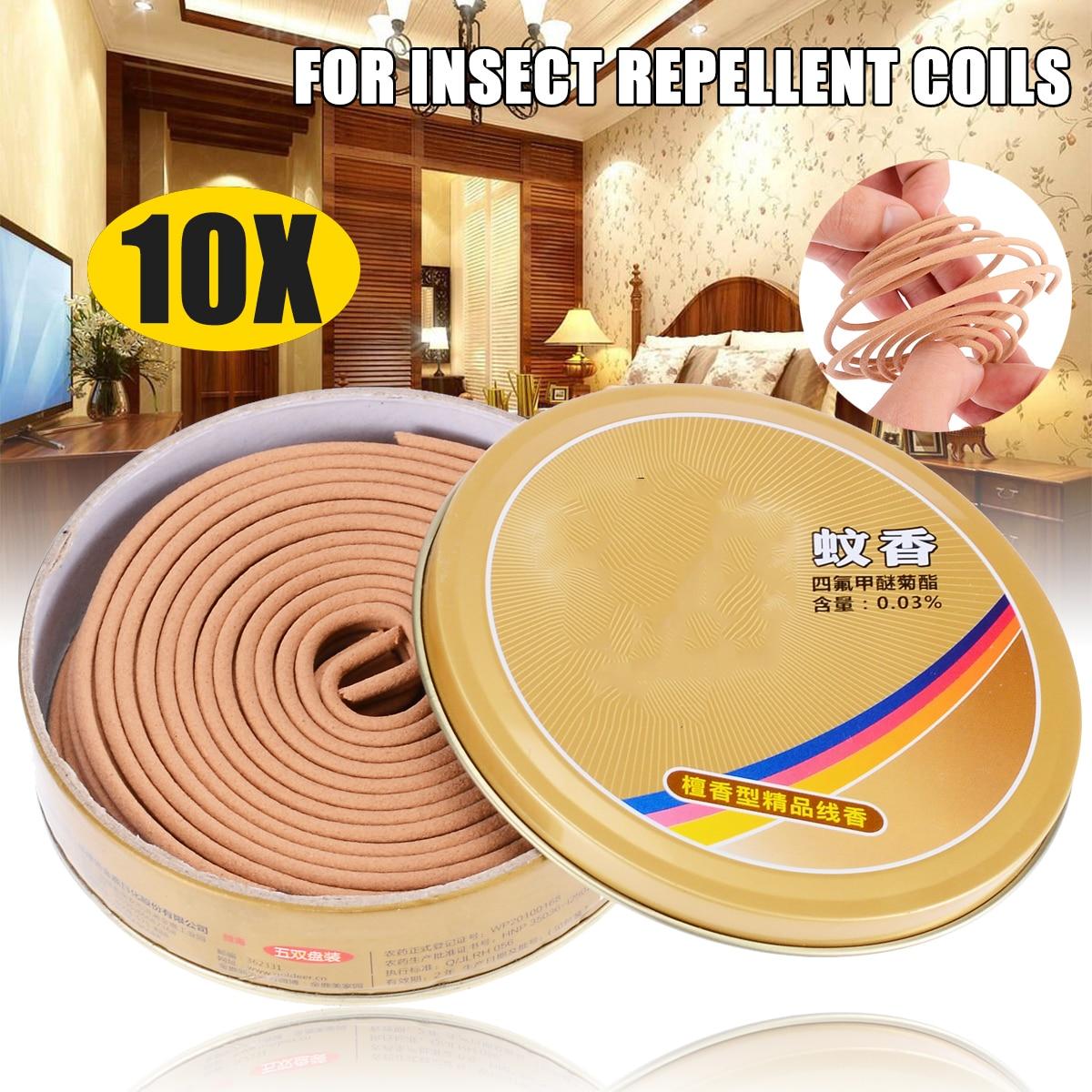 10pack Outdoor Mosquito Repellent Coils Incense Spirals ...