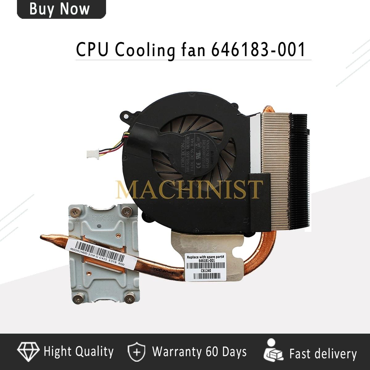 New Laptop radiator For HP 2000 CQ43 430 431 435 436 CQ57 630 631 Heatsink CPU Cooling fan cooler 646183-001 646181-001