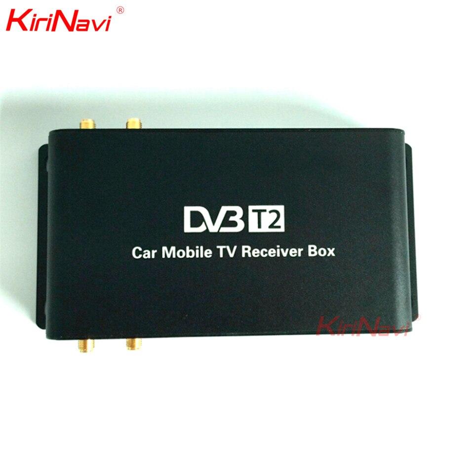 Kirinavi pour allemagne voiture HD boîte de télévision numérique voiture antenne de télévision numérique double antenne voiture HD TV numérique Turner récepteur