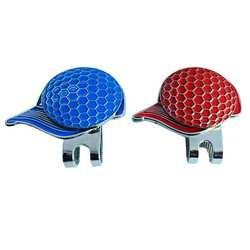 2 предмета легкий сплав магнитные маркеры мяч для гольфа шляпа клип мяч для гольфа и шляпе Pattern Открытый Гольф аксессуары