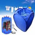 800 W Портативный одежды барабан Электрический Прачечная воздушный обогреватель шкаф осушитель складной детская одежда сушилка складываема...