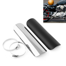 Motorcycle Flame Exhaust Muffler Pipe Heat-shield Insulation Staight Cover For Harley Choppers Cruisers Kawasaki
