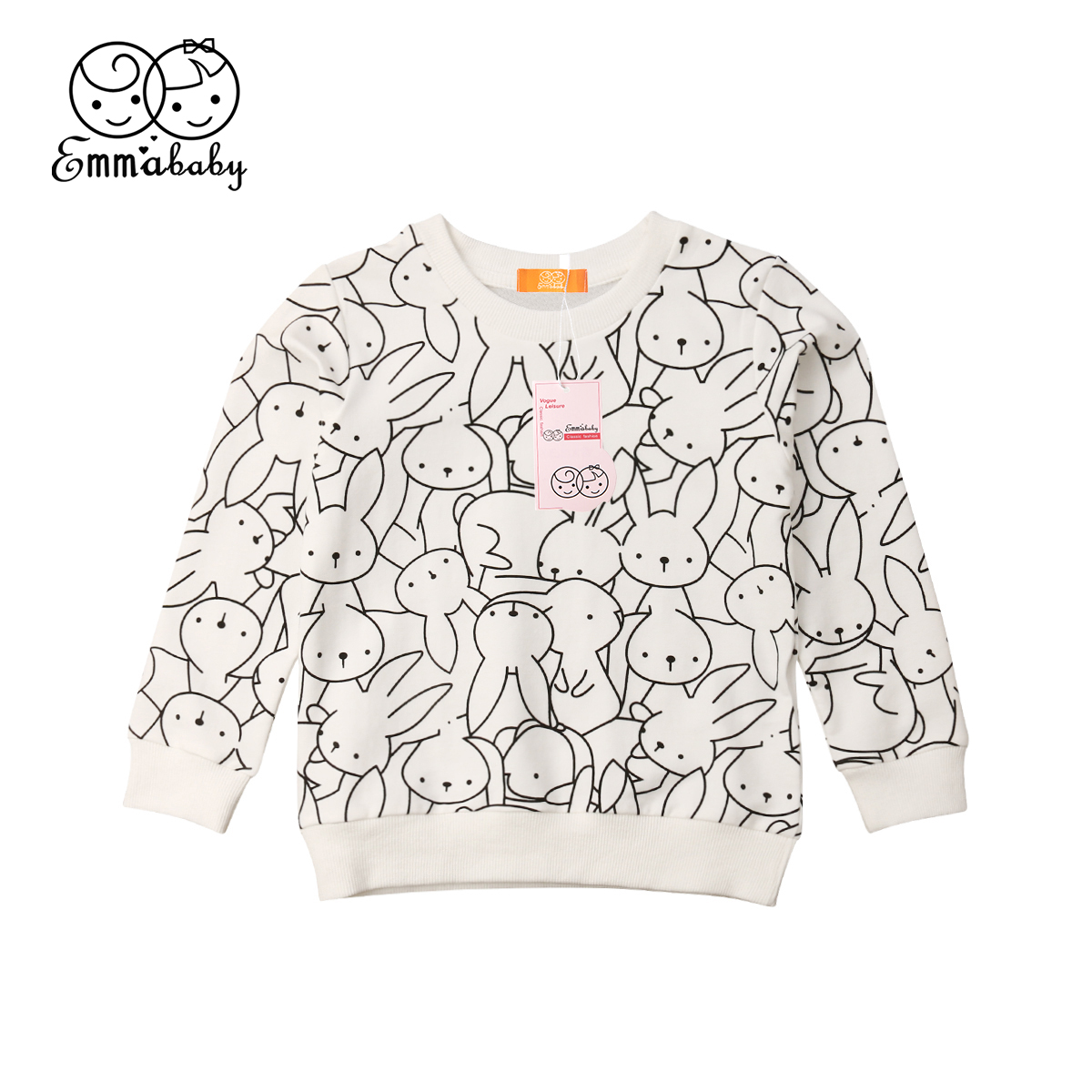 Leopard Print Sweatshirt Tops Long-Sleeve Bunny Baby-Girl Autumn Kids Boy Coat 1-7T Jacket