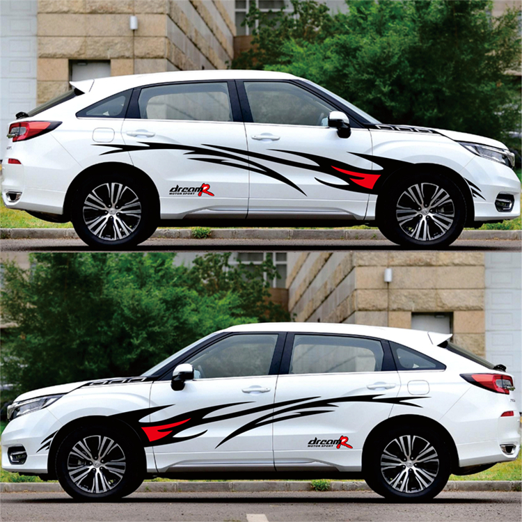 Image 5 - Car styling Racing Flame Graphics Car Stickers Auto Body Decor Cover Decals for FORD FOCUS 2 VW KIA RIO MAZDA 3 SKODA CRUZE-in Car Stickers from Automobiles & Motorcycles