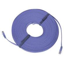 FFYY-98FT 30M CAT6 CAT 6 Flat UTP Ethernet Network Cable RJ45 Patch LAN Cord Blue