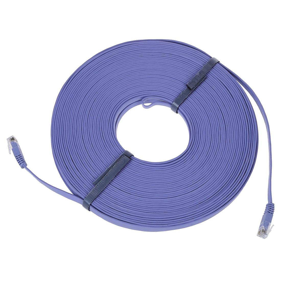 FFYY-98FT 30M CAT6 CAT 6 plat câble réseau Ethernet UTP RJ45 Patch LAN cordon bleu