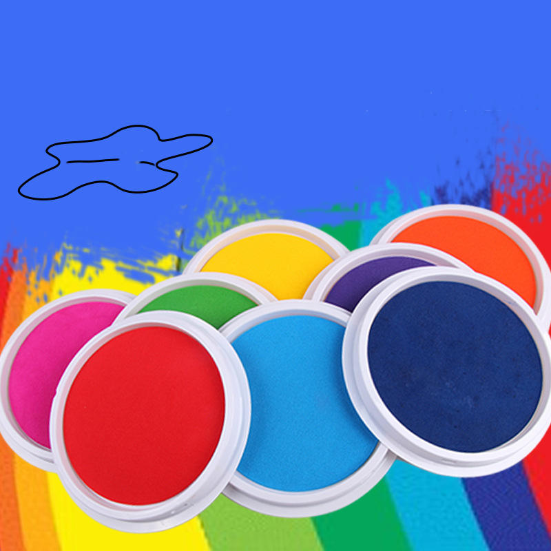 Wecute DIY Finger Painting Drawing Toys Baby Funny Graffiti Colored Drawing Craft Inkpad Stamps Drawing Toys for Children