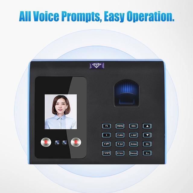 Time Control Employees Biometric Fingerprint Time Attendance System Face Fingerprint Password Recognition Door Access Control 3
