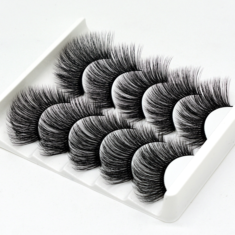 5Pairs 3D False Eyelashes