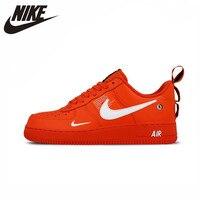 Nike Air Force 1 Af1 Оригинал Новое поступление Для мужчин ярко красные Скейтбординг спортивная обувь кроссовки для прогулки # AJ7747 800